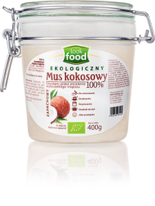 Look Food Mus kokosowy 100% eko 400 g
