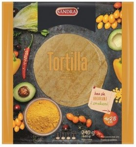 Sandra Tortilla curry 4 sztuki 240 g