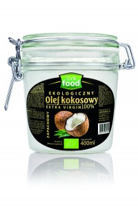 Look Food Olej z kokosa extra virgin eko 400 ml