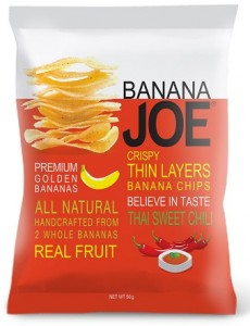 Banana Joe Chipsy z banana Tchai Chilli bezglutenowe 50 g