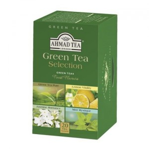 Ahmad Tea Selection of Green Teas Zestaw 4 zielonych herbat 20 x 2 g