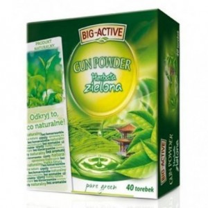 Big-Active Gun Powder Pure Green Herbata zielona 72 g (40 torebek)