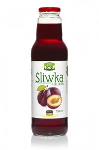 Look Food Śliwka sok 100% 750 ml