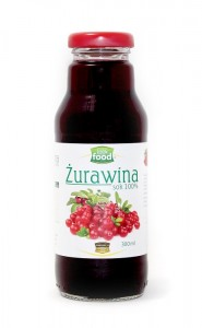 Look Food Żurawina sok 100% 300ml
