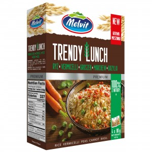 Melvit Trendy Lunch Mix ryż parboiled vermicelli groszek marchew bazylia 4 x 80 g