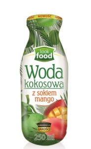 Look Food Woda kokosowa z sokiem z mango 250 ml