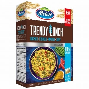 Melvit Trendy Lunch Mix basmati fasolka papryka curry 4 x 100 g