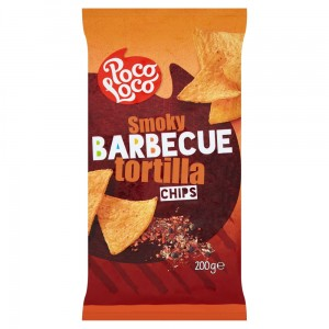 Poco Loco Tortilla Chips Barbecue 200 g
