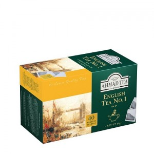 Ahmad Tea English Tea No.1 Herbata czarna ekspresowa 40 x 2 g